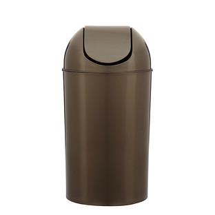 Umbra Pewter 10 gal. Swing-Lid Grand Trash Can