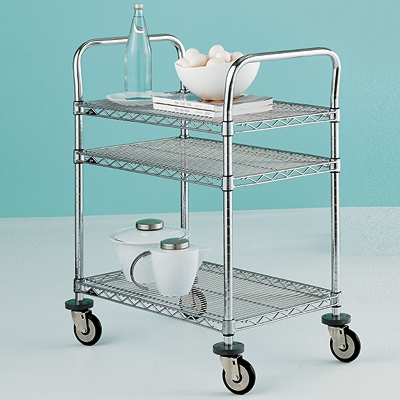 Metro Commercial Industrial 3-Shelf Serving Cart