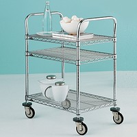 Metro Commercial 3-Shelf Serving Cart