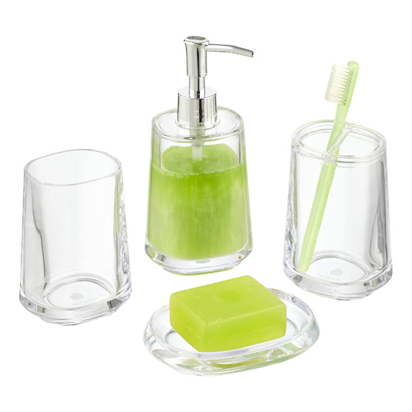 Clear Bathroom Accessories Sets