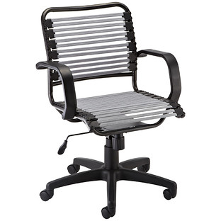 Delicieux Silver Flat Bungee Office Chair With Arms