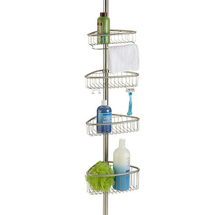 InterDesign Forma Stainless Steel Tension Pole Shower Caddy
