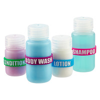 Silicone Travel Bottle Labels