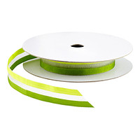 Two-Tone Sheer Green Ribbon