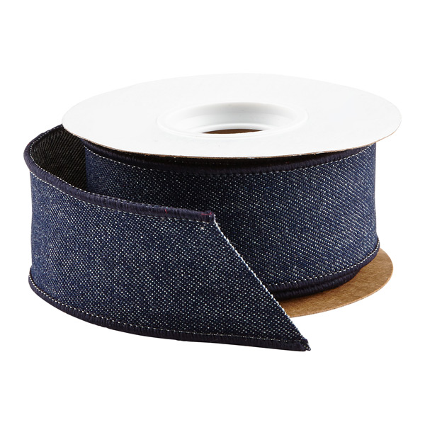 Denim Wired Ribbon