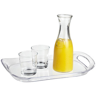 Sergio Acrylic Serving Tray with Handles