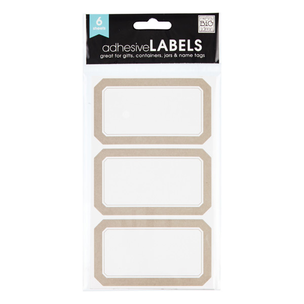 Taupe Multi-Purpose Labels
