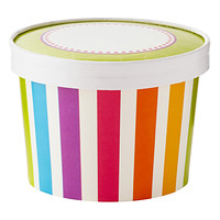Bright Strips Ice Cream Pints
