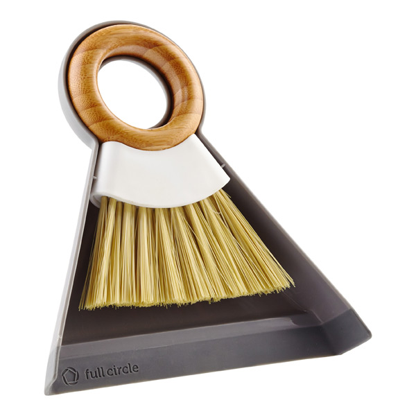 Full Circle Tiny Team Mini Bamboo Brush & Dustpan Set