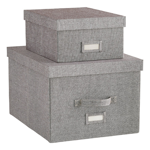 Grey Storage Boxes  sc 1 st  The Container Store & Storage Boxes Fabric Bins u0026 Decorative Clothes Boxes | The ...