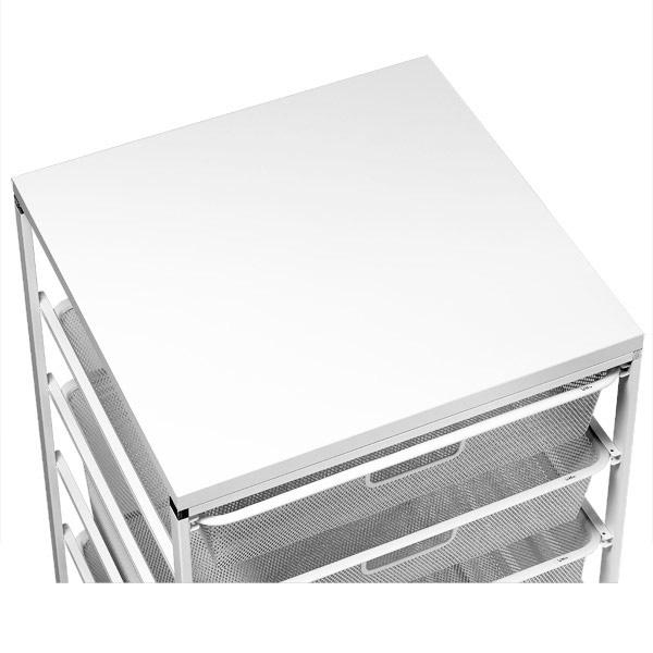 White Cabinet-Sized elfa Melamine Tops