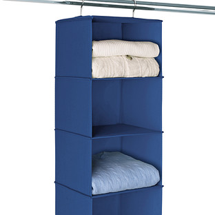 Indigo 6-Compartment Hanging Sweater Organizer