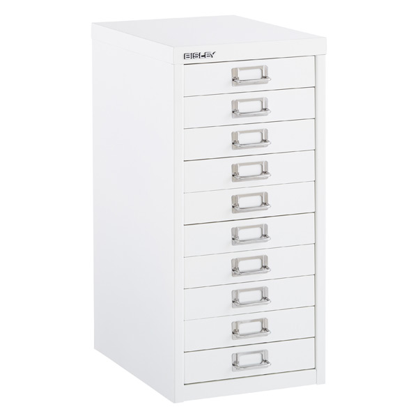 Bisley White 8 Amp 10 Drawer Collection Cabinets The