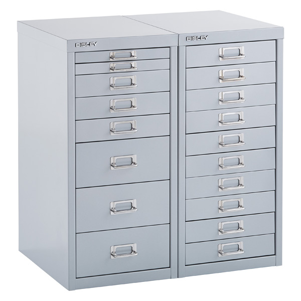 Bisley Silver 8 Amp 10 Drawer Collection Cabinets The