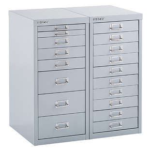 Bisley Silver 8- & 10-Drawer Collection Cabinets