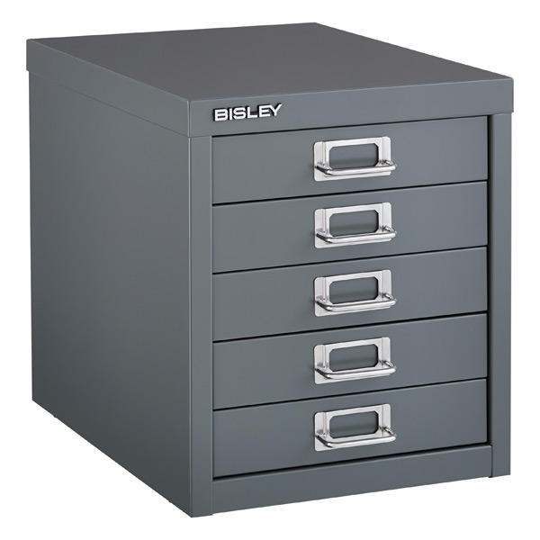 Drawer Cabinet - Bisley Graphite 5-Drawer Cabinet | The Container ...