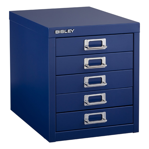 Oxford Blue Bisley 5-Drawer Cabinet