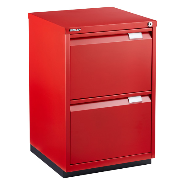 Bisley Red Premium Locking Filing Cabinet The Container