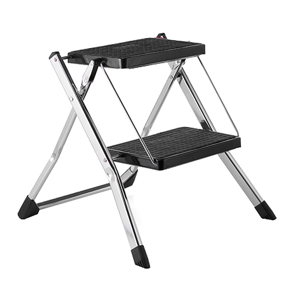 Chrome Slim Folding Step Stool