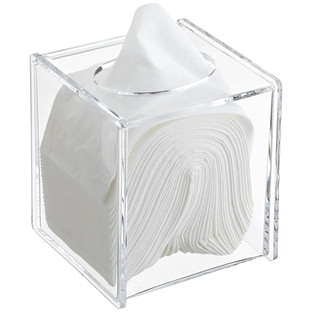 Acrylic Hinged-Lid Boutique Tissue Box
