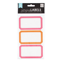Pink & Orange Multi-Purpose Labels
