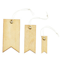 Natural Wood Tags