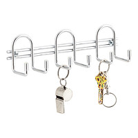 Chrome 6-Hook Utility Rack
