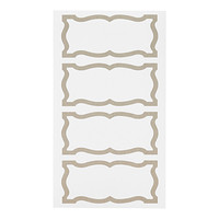 Taupe Decorative Multi-Purpose Labels