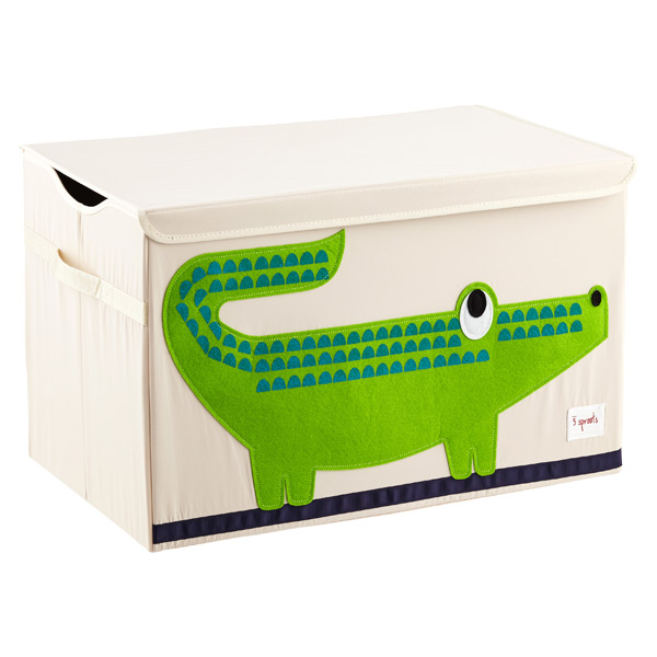 3 Sprouts Crocodile Toy Storage Box with Handles