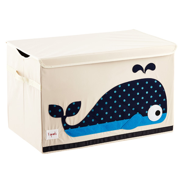 3 Sprouts Whale Toy Storage Box with Handles
