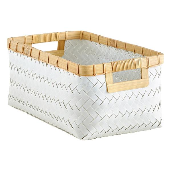 Woven Storage Baskets With Handles : Hampton woven storage bins with handles the container store