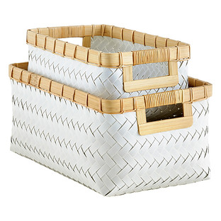 Beau Hampton Woven Storage Bins With Handles