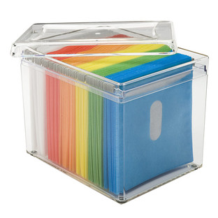 bins small storage bin 120 disc rainbow acrylic storage box - Small Storage Containers