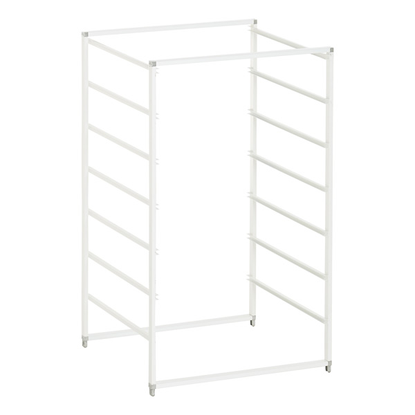 White Cabinet-Sized Elfa Drawer Frames