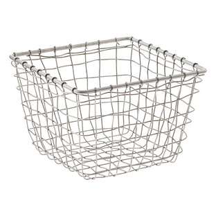 Zinc X-Small Marché Wire Storage Basket