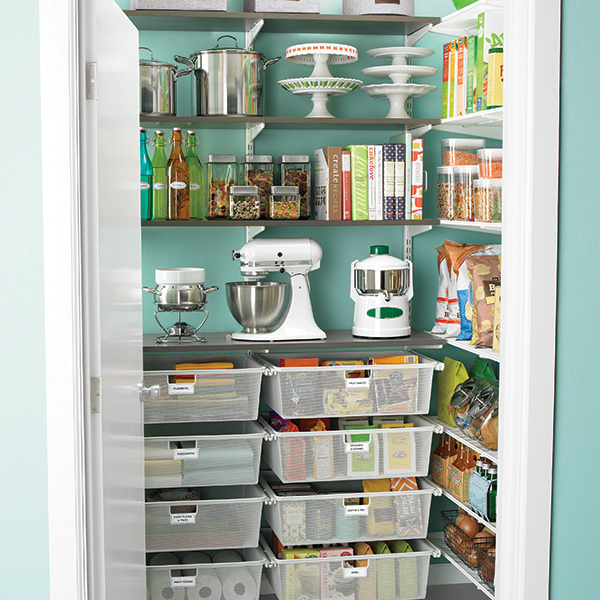 57 Best Images About Pantry Ideas On Pinterest: Driftwood & White Elfa Walk-In Pantry