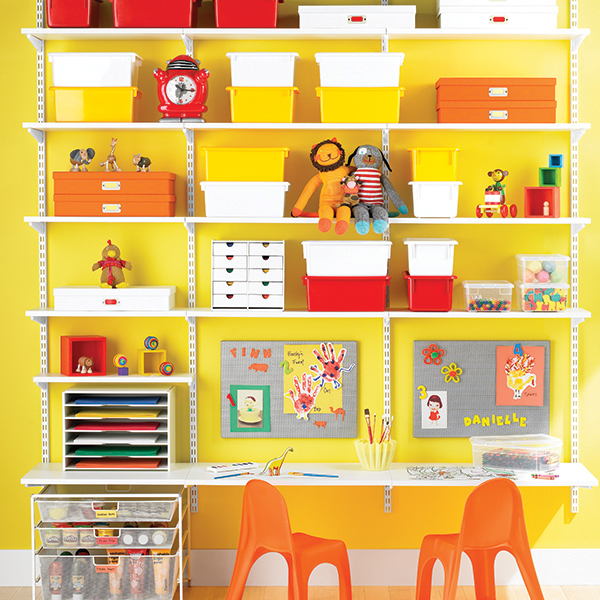 White Elfa Kid's Workstation