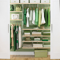 Birch & White elfa Reach-In Closet