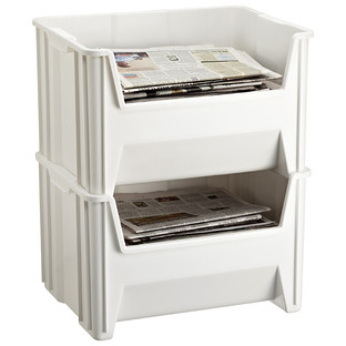 White Stackable Recycle Bin