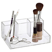 Clear Bathroom Storage Bath Organization Bathroom Organizer - Container store makeup organizer