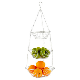 Chrome 3-Tier Hanging Basket