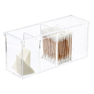 luxe acrylic tray with mirror base the container store