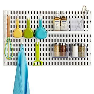 White elfa utility Board Kitchen Solution