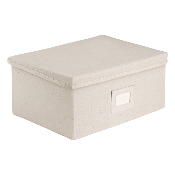 Natural Canvas Storage Boxes With Lids The Container Store