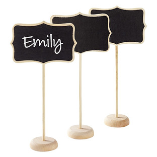 Chalkboard Place Card Holder Stands