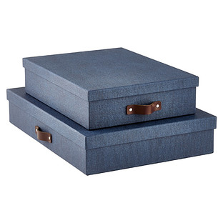 Bigso Marten Navy Office Storage Boxes