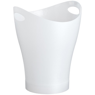 Umbra White Garbino Trash Can by Karim Rashid
