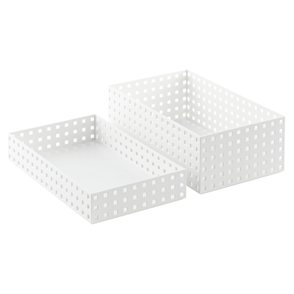 White Like-it Bricks 13-3/4 Wide Bins