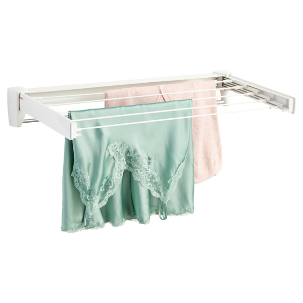 Fold-Away Wall-Mounted Clothes Drying Rack