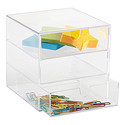 Clear 3-Drawer Box